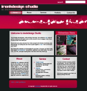 pinky web page